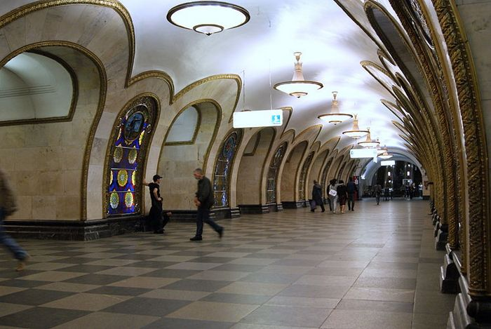 Станция метро Новослабодская. Фото: Sergey Rodovnichenko /wikimedia.org