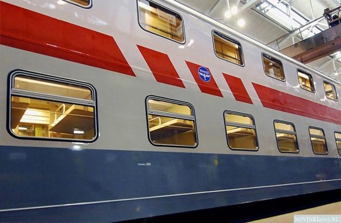 Новый двухэтажный поезд Москва-Адлер. Фото с сайта yandex.ru