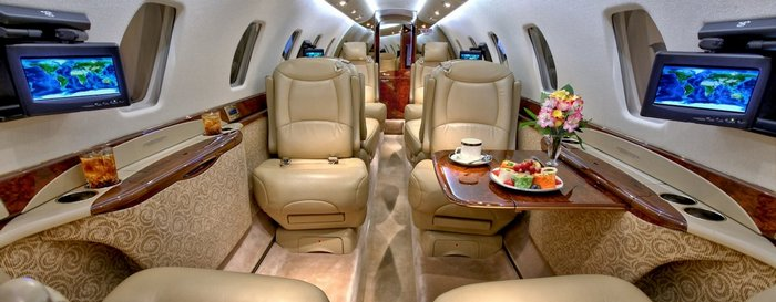 Салон самолёта. Фото с сайта www.cessna-citation.ru/citation/sovereign
