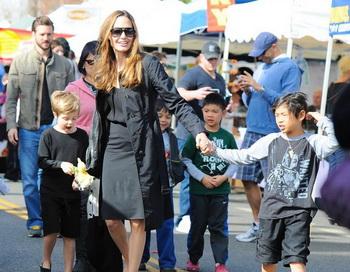 Анджелина Джоли и Брэд Питт, снова ожидает пополнения семейства. Фото с сайта bradpitt.com.ru