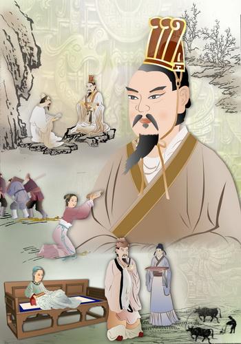 Император Вэнь династии Хань. Иллюстрация: Екатерина Чан/Великая Эпоха (The Epoch Times)