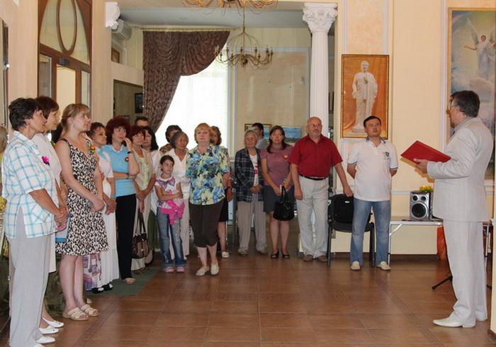 Международная выставка «Истина-Доброта-Терпение» открылась в Ангарске. Фото: Нина Апёнова/Великая Эпоха (The Epoch Times)