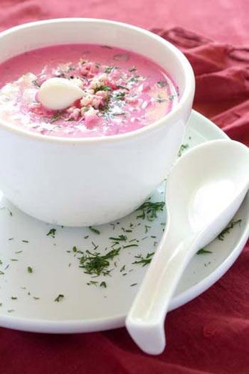 Суп-пюре из свеклы. Фото: greenmama.ru