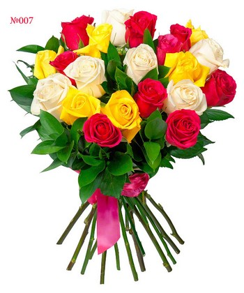 Букет «Ассорти из роз». Фото с сайта megaflowers.ru