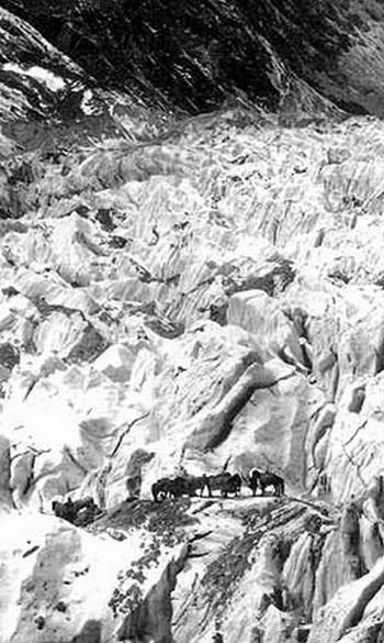 На леднике Музарт. Фото: vokrugsveta.com