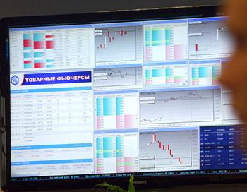 Работа товарно-фондовой биржи. Фото РИА Новости