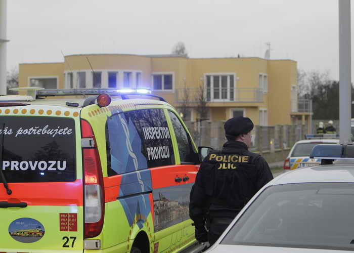 Чехия. Полиция у здания палестинского диппредставительства. Фото: STR/AFP/Getty Images