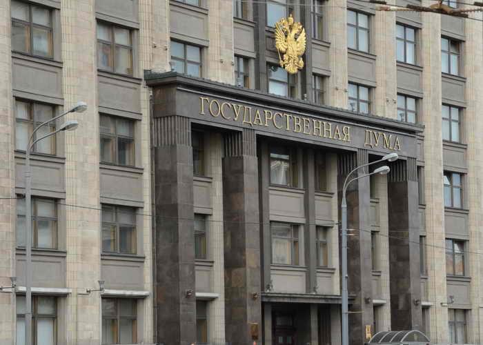 Для обсуждения пенсионной реформы в Госдуме укрепили балкон. Фото: KIRILL KUDRYAVTSEV/AFP/Getty Images
