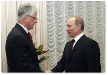 Путин в Словении: подписано соглашение «Южный поток». Фото с premier.gov.ru