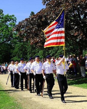 В июле 1976 года в Филадельфии около 4000 представителей организации «Американский легион» съехались на свое регулярное собрание. Фото: KAREN BLEIER/AFP/Getty Images