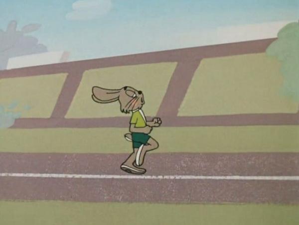 Стопа должна ставиться под центр тяжести тела. Это значит, что стопа должна находиться прямо под телом в момент приземления. Фото: мультфильм «Ну, погоди».