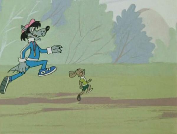 Вы сможете добиться лучших результатов, если будите бегать вместе. Дружеское соперничество поможет избавиться от лени и повысить общий уровень подготовки. Фото: мультфильм «Ну, погоди».