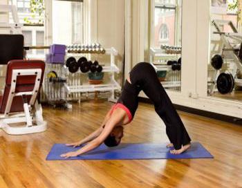 Для выполнения динамического растяжения в стиле йоги примите положение лицом вниз с упором рук в пол, руки и ноги выпрямлены. Фото: Генри Чань/Великая эпоха