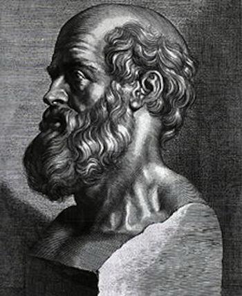 Фото: Гиппократ - отец западной медицины. Гравюра Питера Пола Рабенса, 1638 год, любезно предоставлена National Library of Medicine