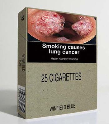 Сигаретные пачки теперь будут «предупреждать» только о смерти и болезнях, вызванных курением. Фото: sostav.ru