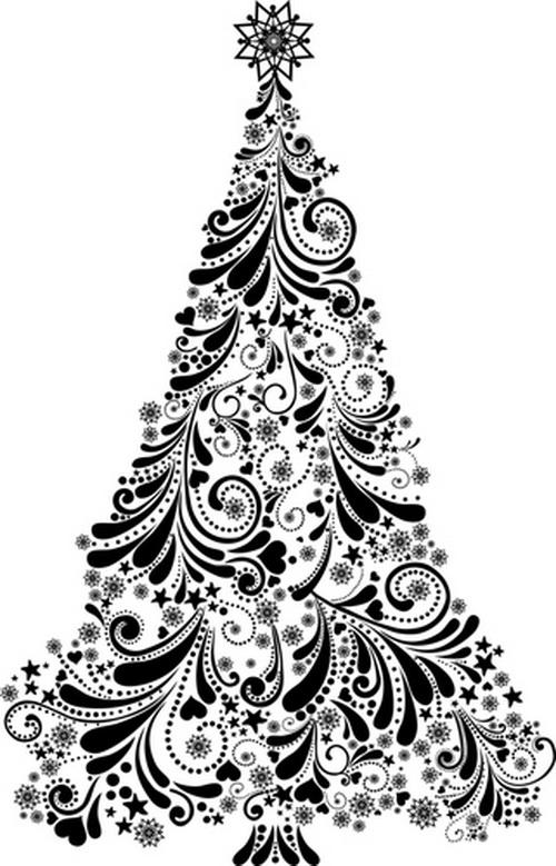 Нарисованная новогодняя ёлка. Фото: Shutterstock*