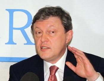Григорий Явлинский - российский политик и экономист, основатель и член политкомитета партии