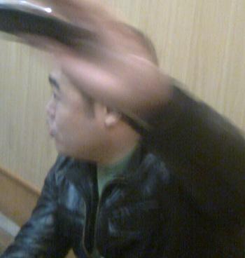 Geng Jili, гражданин Китая, избивший россиянина во время одиночного пикета. Фото предоставлено Эдуардом Кузьминым