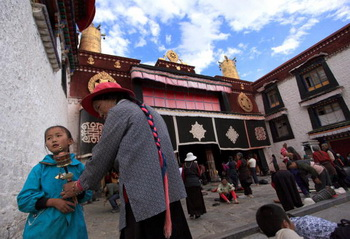 двор храма Большого Чжу. Фото: Feng Li/Getty Images