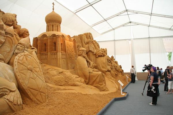 Международный Фестиваль скульптуры из песка в Москве. Фото:Анатолий Белов/Великая Эпоха