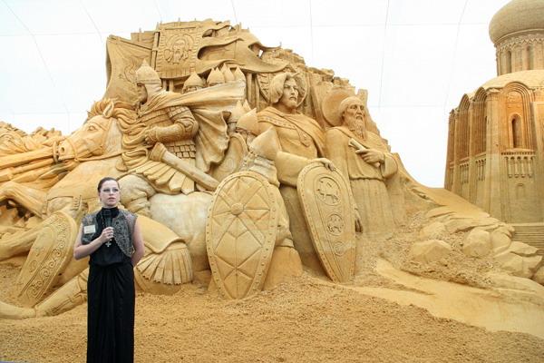 Международный Фестиваль скульптуры из песка в Москве. Фото: Анатолий Белов/Великая Эпоха