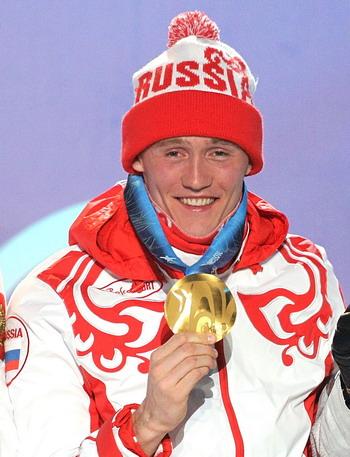 Никита Крюков, первый из российской команды принес золото на Олимпиаде в Ванкувере