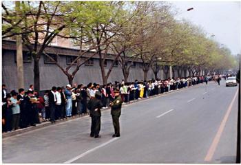 Апеллирующие выстроились в ровную линию. Фото с epochtimes.com