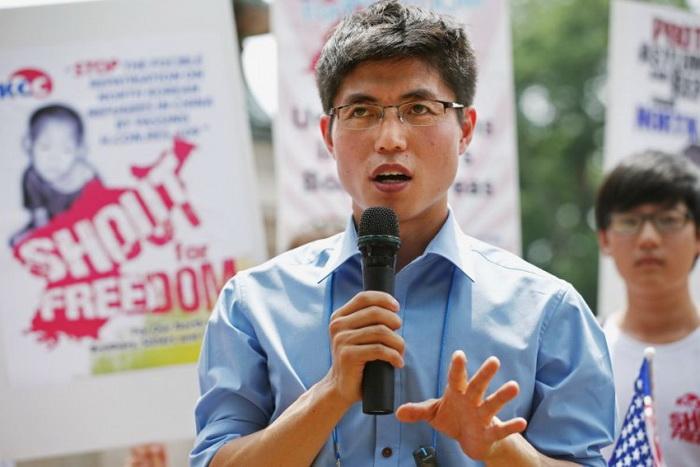 Беженец из Северной Кореи и правозащитник Син Тон-хёк выступает на митинге у Белого дома в Вашингтоне, округ Колумбия, 10 июля 2012 года. Фото: Chip Somodevilla/Getty Images