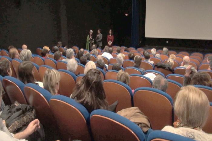 Внимательные зрители свободно выражали своё мнение после просмотра фильма. Фото: AEM/NTD