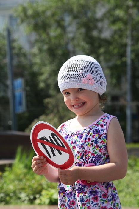 Самая юная участница пикета За Россию без ГМО. Фото предоставлено Общенациональной Ассоциацией Генетической Безопасности