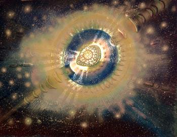 Перемещение в развилке Миров, акрил, керамика, 2005 год. Фото:     Ульяна КИМ. Великая Эпоха (The Epoch Times)