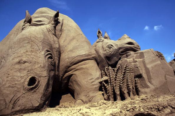 Конкурс песчаных скульптур. Фото: Matt Cardy/Getty Images