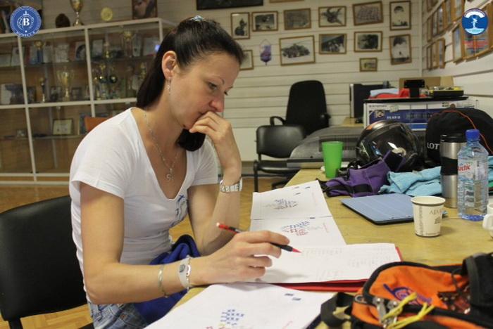 Татьяна Полянская: «Это с наземных тренировок на женском рекорде». Фото предоставлено Татьяной Полянской