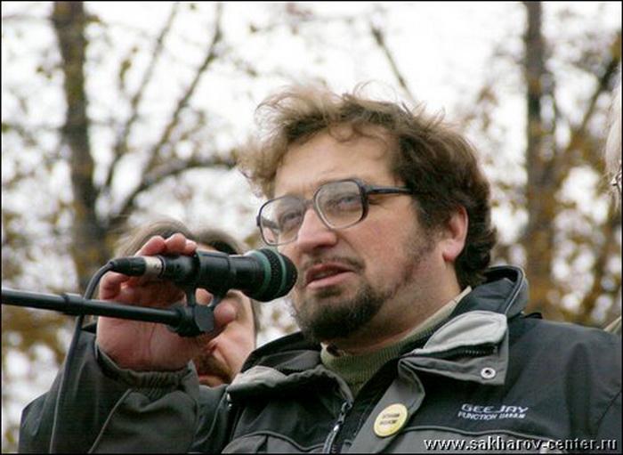 Андрей Бабушкин на антифашистском митинге в Москве. Фото: Музей им. А.Д. Сахарова