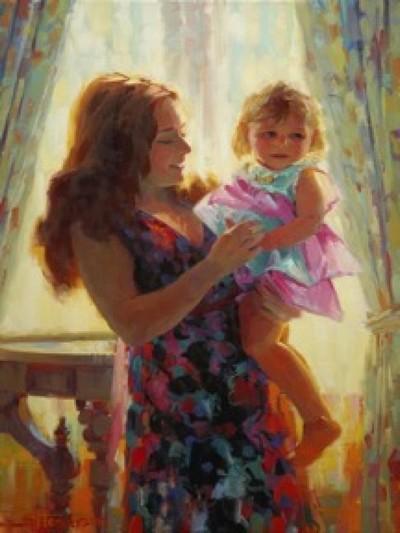 «Мадонна с Младенцем» Стива Хендерсона. Холст, масло, 30 х 20 дюймов. Фото предоставлено Стивом Хендерсоном