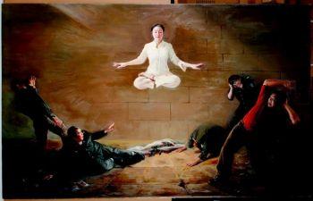 Картина Мишель Чэнь «Потрясение» была удостоена золотой медали на втором ежегодном международном конкурсе китайском живописи, который был учрежден  NTDTV. Фото: NTDTV