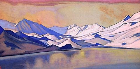 Горное озеро. Перевал Бара-Лача (Государственный русский музей в Санкт-Петербурге)