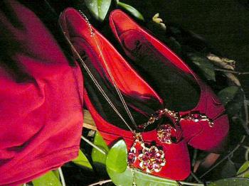 Красные туфельки из интернет-магазина. Фото из архива автора.