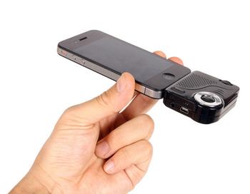 Известный японский производитель аксессуаров Thanko только что анонсировал компактный проектор для iPhone. Фото с сайта http://technodaily.ru/?p=3705
