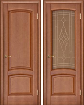 Модель Лаура, темный анегре под стекло. Фото с сайта http://www.buildcorps.ru/goods/doors-ekoshpon/