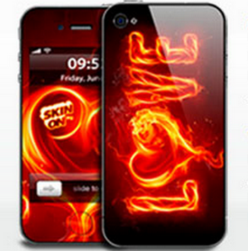 Наклейки на телефон. Фото с сайта www.skinon.ru
