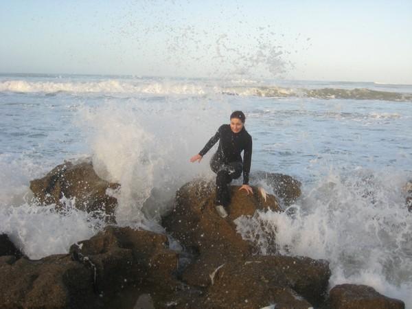 Африка в Новый Год. Холодные брызги океана.  Фото: Таня Игауне