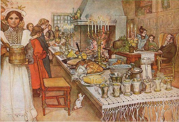 Рождественский сочельник, канун Рождества. Фото: Carl Larsson/ru.wikipedia.org