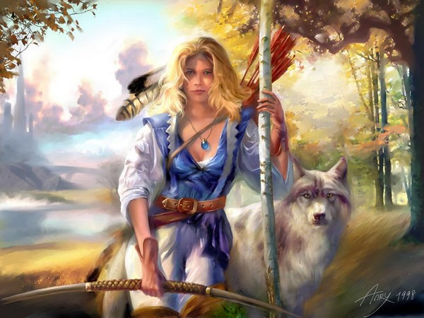 Девана – дочь Перуна и Перуницы. Анри 1998.  Фото  сайта godsbay.ru