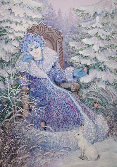 День похищений. Марена - Зима-Матушка, богиня Зимы, покоя. В народных сказках о ней говорится как о Снежной Королеве. Каждый из нас по-своему любит это время года, несмотря на суровые морозы и холода, за его зимнее очарование, белый снежный покров, за внутреннюю тишину, умиротворённость и покой. Всё это - проявления прекрасной Богини Мары. Фото с сайта  liveinternet.ru