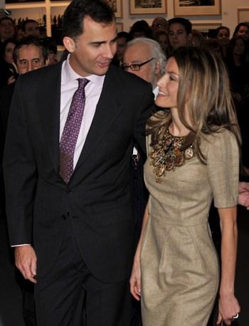 Принц  Филипп (Felipe) and Принцесса Литицмя  (Letizia).  Фото:  Carlos Alvarez/Getty Images