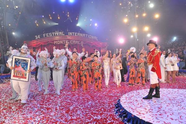 Церемония закрытия  крупнейшего в мире фестиваля циркового искусства в Монте-Карло. Фото:  Pool - Getty Images