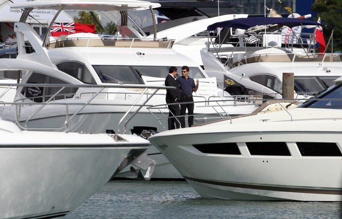 Выставка-продажа яхт Boat Show проходит в Англии. Фоторепортаж. Фото: Matt Cardy/Getty Images