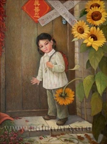Картина с выставуи «Истина-Доброта-Терпение – искусство, дарованное свыше». Фото с сайта falunart
