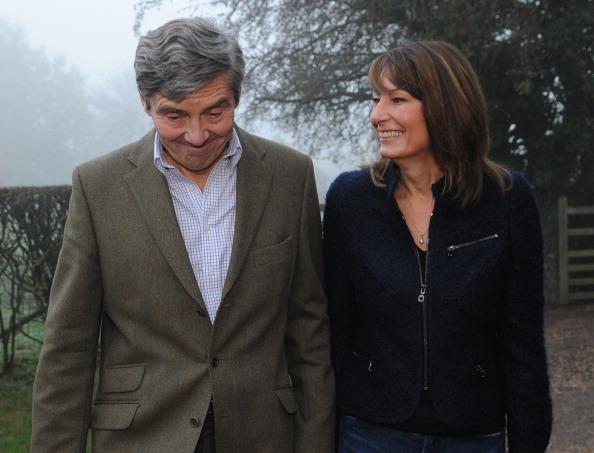 Родители Кейт: Микаэл и Кэрол Миддлтон. Фото: Stefan Rousseau - WPA Pool/Getty Images